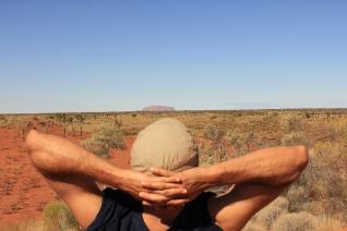 Admiring Uluru